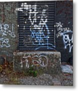 Ababdoned Doorway Wiiliamsburg Brooklyn Metal Print