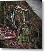 Abandoned Bicycle Metal Print