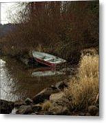Abandoned Boat II Metal Print