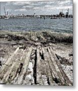 Abandoned Boat Slip Metal Print