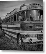 Abandoned Bus Metal Print