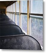 Abandoned Bus Metal Print