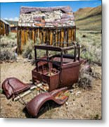 Abandoned Cars, Bodie Ghost Town Metal Print