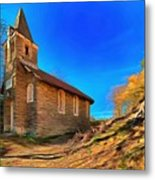 Abandoned Church Of Abandoned Village Paint - Chiesa Abbandonata Di Paesino Abbandonata Paint Metal Print