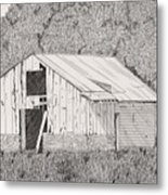 Abandoned Dairy-oklahoma Metal Print by Pat Price