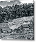 Abandoned Farm Buildings Metal Print