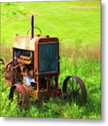 Abandoned Farm Tractor Metal Print