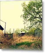 Abandoned Farm Yard Metal Print
