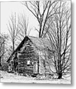 Abandoned Farmhouse In The Michigan Countryside Metal Print