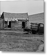 Abandoned Ford Truck And Shed Metal Print