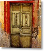 Abandoned Green Door 1 Metal Print by Mexicolors Art Photography