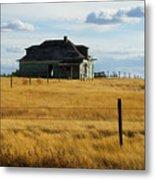 Abandoned Homestead Saskatchewan Metal Print