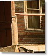 Abandoned House - Abandoned Porch Metal Print