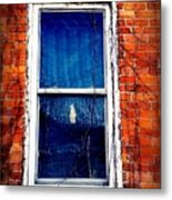 Abandoned House Window With Vines Metal Print