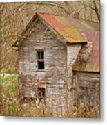 Abandoned House With Colorful Roof Metal Print