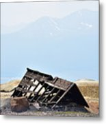 Abandoned In A Sea Of Mining Tailings Metal Print