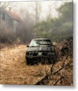 Abandoned In The Fog Metal Print