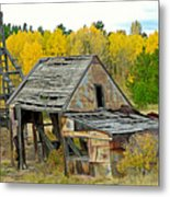 Abandoned Mine In Autumn Metal Print