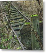 Abandoned Miniature Railway Metal Print