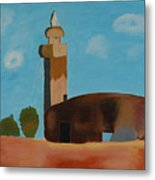 Abandoned Mosque Metal Print