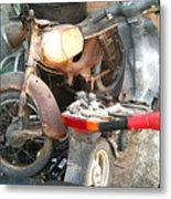 Abandoned Motorbike  Metal Print
