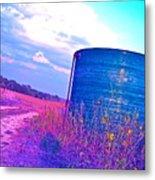 Abandoned Oil Storage Tank Metal Print