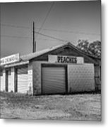 Abandoned Peach Stand Metal Print