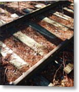 Abandoned Railtracks Metal Print