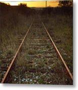 Abandoned Railway Metal Print