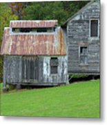 Abandoned Shack By The Road Metal Print