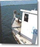 Abandoned Shrimpboat Metal Print