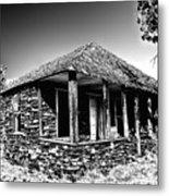 Abandoned Stone House Metal Print