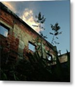 Abandoned Theater Oasis Metal Print