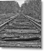 Abandoned Tracks Metal Print