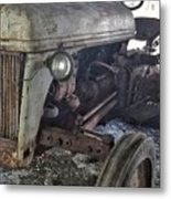 Abandoned Tractor Metal Print