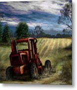 Abandoned Tractor Metal Print by Ron Grafe