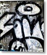 Abandoned Train Car Graffiti Ir Metal Print