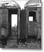 Abandoned Train Cars B Metal Print