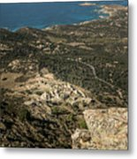 Abandoned Village Of Occi And The Coast Of Corsica Metal Print