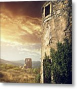 Abandoned Windmills Metal Print