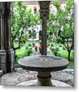 Abbey Cloister Metal Print