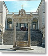 Abbey Of Montecassino Courtyard Metal Print