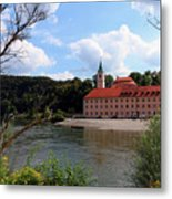 Abbey Weltenburg And Danube River Metal Print
