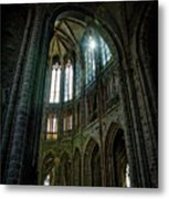 Abbey With Heavenly Light Metal Print