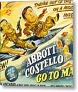Abbott And Costello Go To Mars, Bud Metal Print