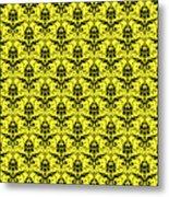 Abby Damask In Black Pattern 05-p0113 Metal Print