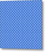 Abby Damask In White Pattern 18-p0113 Metal Print