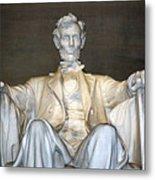 Abe Down To His Knees Metal Print