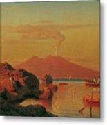Abendlicher Blick Ber Den Golf Von Neapel Metal Print