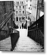 Aberdeen Union Street Back Wynd Stairs Scotland Uk Metal Print